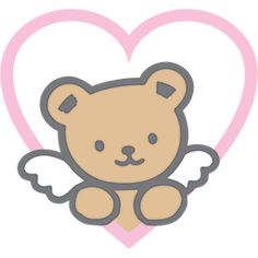 Bear Emoticon, Teddy Bear Tattoos, Hello Kitty Drawing, Angel Bear, Funny Emoticons, Bear Drawing, Cat Stickers, Journal Stickers, Aesthetic Stickers