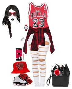 """""""Chicago bulls"""" by kenni35 ❤ liked on Polyvore featuring Yves Saint Laurent, Tissot, Mustard Seed, Coveroo, Talullah Tu, Michael Kors, Lime Crime, Mansur Gavriel and RAJ"""