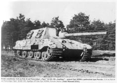 Panzerjäger Tiger Ausf. B  (Hunting Tiger) WW II, Tank Destroyer – Crew: 6 (Commander, Gunner, Two Loaders, Radio Operator and Driver) Armament: 1 x 128mm PaK 44 L.55 and 1 x 7.62mm Machine Gun - only about 88 were Produced (2)