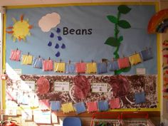 Beans Display classroom display class display Plants flowers growth growing planting watering sun Early Years (EYFS) & Primary Reso - All About Class Displays, School Displays, Classroom Displays, Primary Science, Primary Teaching, Primary Resources, Preschool Science, Ks1 Classroom, Classroom Setting