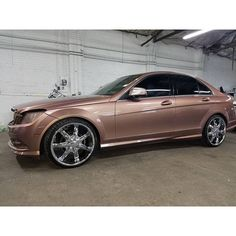 Rose Gold Wrapped Mercedes C300
