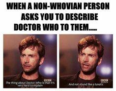 True especially when explaining Amy, Rory & River  or Lady Vastra & Jenny!