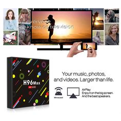 H96 H2 MAX RK3328 4GB RAM 64GB ROM 5G WIFI Bluetooth 4.0 USB3.0 Android 7.1 TV Box with Time Display Amazon Fire Tv Stick, Universal Remote Control, Best Speakers, Internet Tv, Home Network, 4gb Ram, Photography Camera, Tv Videos, Smart Tv