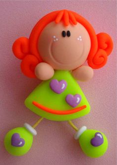 Lucy's - 1 Cute Polymer Clay, Cute Clay, Polymer Clay Dolls, Polymer Clay Projects, Handmade Polymer Clay, Polymer Clay Jewelry, Cute Crafts, Diy And Crafts, Clay Magnets