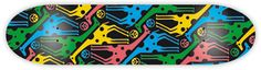 Skateboard designs by Ruben Sanchez, via Behance