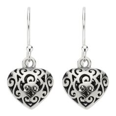 Najo 10X11Mm Oxidised Patterned Heart