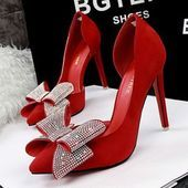 Shop the latest Silver Bow Heels products from Princess Pumps: Custom Shoes & More!, Princess Pumps and more on Wanelo, the world's biggest shopping mall. Fancy Shoes, Unique Shoes, Crazy Shoes, Me Too Shoes, Red Prom Shoes, Bow Heels, Shoes Heels, Shoe Clips, Womens High Heels