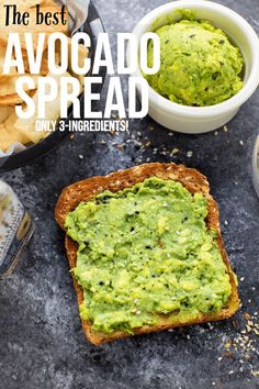 Avocado Spread Best Picture For avocado toast For Your Taste You are looking for something, and it i Cooking Avocado, Avocado Creme, Avocado Egg, Avocado Spread, Brownies, Mediterranean Recipes, Mediterranean Diet Breakfast, Vegan, Food Blogs