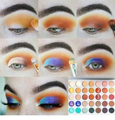 Makeup Palettes with Spatula Tools(Stainless Steel,Silver),Nail-art Palette,Cosmetic Palette,Artist Mixing Palette - Cute Makeup Guide Jaclyn Hill Palette, Jacklyn Hill Palette Looks, Jaclyn Hill Eyeshadow Palette, Morphe Palette, Makeup Guide, Makeup Geek, Eyeshadow Makeup, Makeup Brushes, Eyeshadows