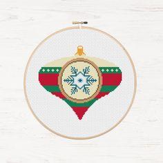 Holiday Decoration Cross Stitch Pattern Modern by Stitchonomy