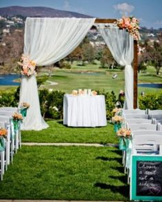 Outdoor ceremony in the summer - perfect <3