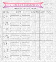 Use this printable workout log to track your workouts! | WORKOUTS ...