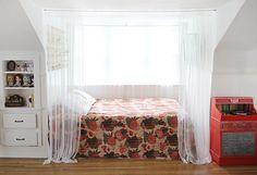 Bed Nook Makeover by Skunkboy Creatures., via Flickr featuring our blanket!