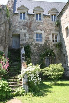 Abbaye de Beauport. Bretagne. Lovely Abbey and gardens with stunning views to the sea