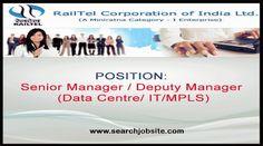 RAILTEL :  Regular Recruitment on Various Executive Posts