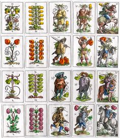 Hans Sebald Beham made this pack of woodblock playing cards when he was 23 years old C. 1523 - The World of Playing Cards Playing Cards Art, Vintage Playing Cards, Renaissance, Medieval Games, Country Scenes, Painted Pots, Vintage Ephemera, Book Of Shadows, Cartography
