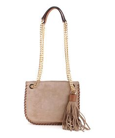 Look what I found on #zulily! Dark Khaki Whipped Chelsea Leather Crossbody Bag #zulilyfinds
