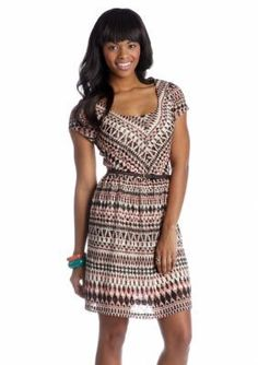 As U  Wish  Printed Belted Dress