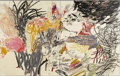Rocio Rodriguez, The Garden, 2009, oil on canvas, 90 x 141 inches.