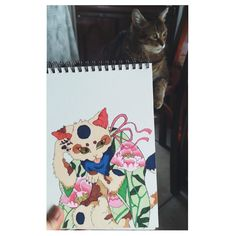 Touchfive markers chinese cat drawing