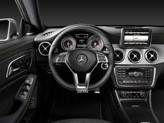 Interior of the 2014 Mercedes-Benz CLA250 (Mercedes-Benz photo)