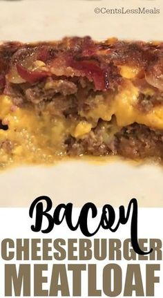 Bacon Cheeseburger Meatloaf is a simple and delicious way to combine the comfort food goodness of meatloaf with the classic taste of a cheeseburger. So yummy!