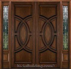 27 Ideas Double Door Design Entrance Woods For 2020 Wooden Front Door Design, Wooden Double Doors, Double Door Design, Door Gate Design, Door Design Interior, Double Front Doors, Wooden Front Doors, Entrance Design, Double Entrance Doors