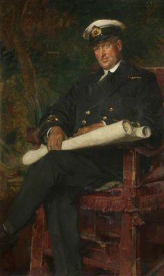 """Lieutenant Commander Percy Thompson Dean (1877–1939), VC"" by Edgar Bundy (1862-1922).  Blackburn Museum and Art Gallery."