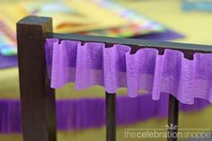crepe paper embellishment ... simple and the price is right!