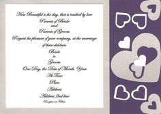 HEARTS GALORE WEDDING INVITE