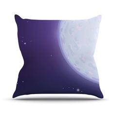 East Urban Home Full Moon by Fotios Pavlopoulos Outdoor Throw Pillow