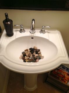 Rocks In A Bathroom Sink Love
