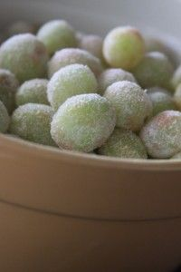Glitter grapes- rolled in Jell-O mix, grapes supposedly taste like sour-patch kids!