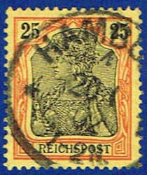 Germany 57 Stamp - Germania Stamp - EU GER 57-1 USED