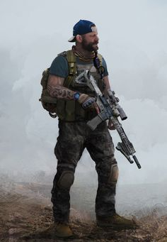 Soldiers PMC by Sergey Kalinin on ArtStation. Special Forces Gear, Military Special Forces, Military Gear, Military Weapons, Apocalypse Character, Military Drawings, Military Action Figures, Combat Gear, Special Ops