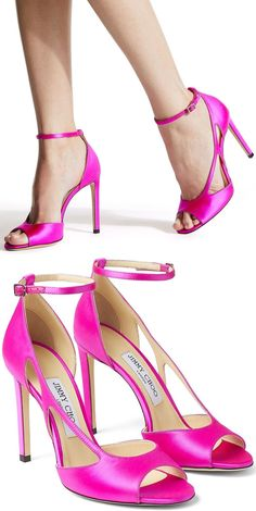 Treat yourself after a hard week to these Liu 100mm cutout pumps from Jimmy Choo that elevate your mood and look with a stunning stiletto heel. Retail therapy truly does work wonders. Pink High Heels, Pink Shoes, Jimmy Choo Shoes, Retail Therapy, Strappy Sandals, Transgender, Allah, Bff, Stiletto Heels