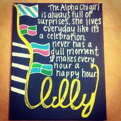 alllllllll mine! best birthday present from the best sister<3 #alphachi #alphachiomega #lilly