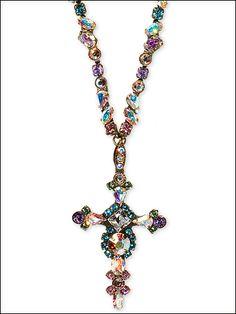 Sorrelli Crystal Cross Necklace in Smitten by Sorrelli - $197.50 (http://www.sorrelli.com/products/NBN22AGSMI)