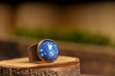 Galaxy ring adjustable ring statement ring universe by SomeMagic