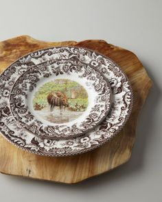 "Spode ""Woodlands Moose"" Dinnerware - Horchow"