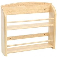 Wooden Spice Rack (Without Jars) Woodworking Courses, Woodworking School, Woodworking Furniture, Fine Woodworking, Woodworking Projects Plans, Wall Spice Rack, Wall Mounted Spice Rack, Wooden Spice Rack, Pine Furniture