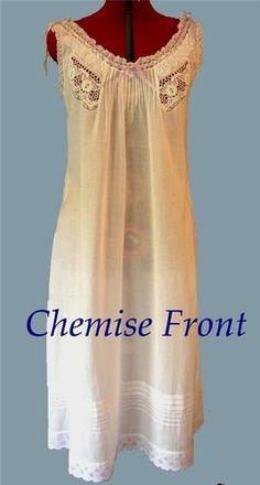 Sewing Pattern for Lovely 1904 Edwardian Chemise Titanic Era Dual Sz Med LRG | eBay