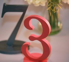 #coral Wedding Table Numbers ... For Reception Guide  ... https://itunes.apple.com/us/app/the-gold-wedding-planner/id498112599?ls=1=8 ... plus how to organise your entire wedding ... The Gold Wedding Planner iPhone App ♥
