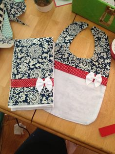 Homemade bib and burp cloth for little girls... Completely custom and one of a kind!