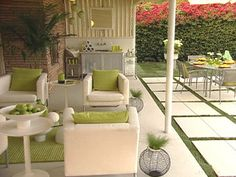 Dream Decks and Patios: A boring patio becomes a mid-century modern re-do with period furniture and simple colors. From DIYnetwork.com