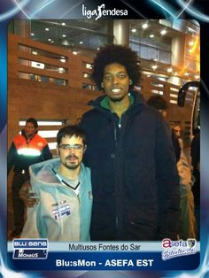 Luis fan at Obradoiro vs. Estudiantes basket match