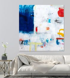 Extra Large Abstract Painting, Contemporary Art, Extra Large Wall Art, Original Canvas Painting 48x48, Colorful Abstract Art, Duealberi #abstractpainting #homedecor #abstractart #acrylicpainting #minimalistpainting #largeabstract #duealberi #interiorstyling #paintings #wallart #modernart #interiors #interiordesign #hotelart #canvasart #madeinitaly #setdecor #homeinspiration #housedesign #designlife #designdeinteriores #readytohang #afduealberi #walldecor #contemporaryart #largepainting…