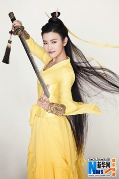 Michelle Chen in traditional costume   China Entertainment News