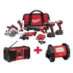 Milwaukee M18 18-Volt Lithium-Ion Cordless Combo Kit (6-Tool) With Free M18 Radio and M18 LED Flood Light