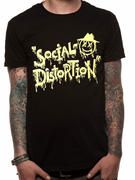 Officially licensed Social Distortion t-shirt design printed on a Black 100% cotton short sleeved T-shirt.